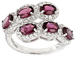 Purple Rhodolite Sterling Silver Ring 4.00ctw