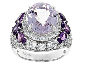 Pink Kunzite 10k White Gold Ring 8.75ctw