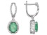 Green Emerald Rhodium Over Sterling Silver Earrings 4.61ctw