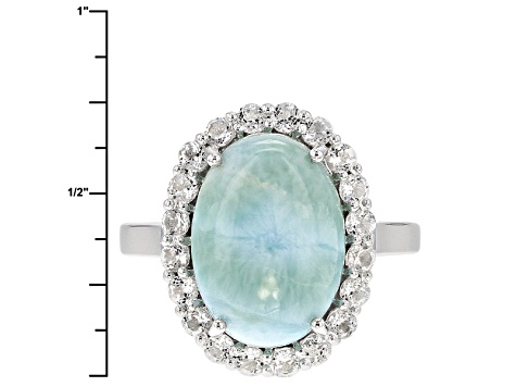 Blue Larimar Sterling Silver Ring 1.00ctw