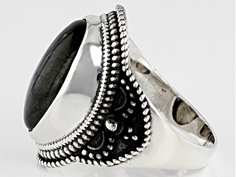 Gray Labradorite Sterling Silver Ring