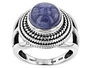Blue Tanzanite Sterling Silver Ring
