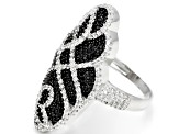 Black Spinel Sterling Silver Ring 2.28ctw