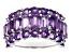 Purple Amethyst Sterling Silver Ring 4.86ctw