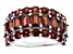 Red Garnet Rhodium Over Sterling Silver Band Ring 6.12ctw
