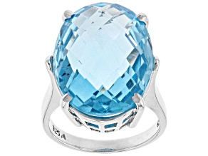 Blue Topaz Sterling Silver Ring 18.00ct