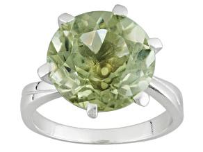Green Prasiolite Sterling Silver Ring 6.00ct