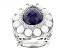Blue Lapis Platineve Ring .37ctw