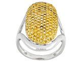 Yellow Citrine Sterling Silver Ring 1.15ctw