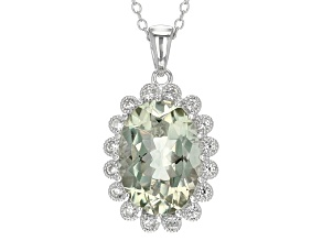 Green Prasiolite Sterling Silver Pendant With Chain 5.29ctw