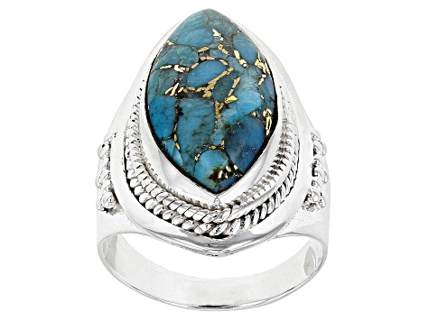 3f8f1f015 Blue Turquoise Sterling Silver Ring - DOCX434 | JTV.com