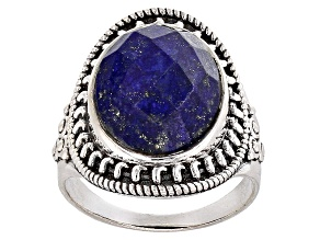 Blue Lapis Sterling Silver Ring 7.00ct