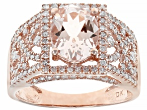 Pink Morganite 14k Rose Gold Ring 2.34ctw