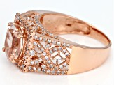 Morganite 14k Rose Gold Ring 2.34ctw