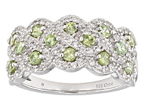 Green Demantoid Sterling Silver Ring 1.23ctw