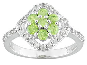 Green Demantoid Sterling Silver Ring 1.32ctw