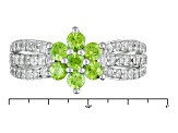 Green Demantoid Sterling Silver Ring 1.60ctw