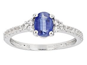 Blue Kyanite Sterling Silver Ring 1.34ctw