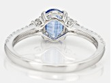 Blue Kyanite Sterling Silver Ring 1.34ctw