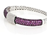Raspberry Color Rhodolite Rhodium Over Sterling Silver Bracelet 8.63ctw