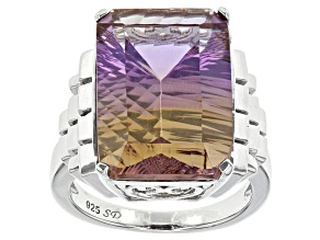 Bi-Color Ametrine Sterling Silver Ring 11.80ct