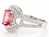 Pink Danburite Sterling Silver Ring 2.20ctw