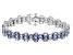 Blue Tanzanite Sterling Silver Bracelet 20.00ctw