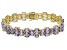 Blue Tanzanite 18k Yellow Gold Sterling Silver Bracelet 20ctw