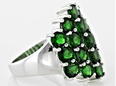 Green Chrome Diopside Sterling Silver Ring 5.45ctw