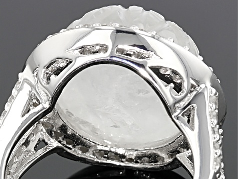 Rainbow Moonstone Sterling Silver Ring 1.27ctw