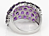 Purple Amethyst Sterling Silver Ring 2.50ctw