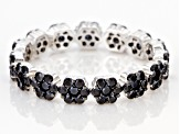 Black Spinel Sterling Silver Ring 1.48ctw