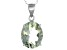 Green Prasiolite Sterling Silver Pendant With Chain 4.60ct