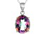 Multicolor Quartz Sterling Silver Pendant With Chain 4.50ct
