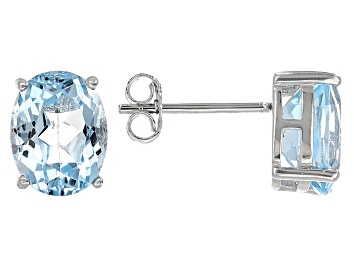 Picture of Blue Topaz Sterling Silver Earrings 5.00ctw