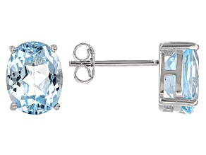Blue Topaz Sterling Silver Earrings 5.00ctw
