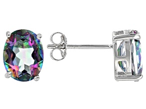Multicolor Quartz Sterling Silver Earrings 3.34ctw