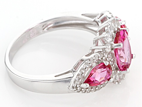Pink Danburite Sterling Silver Ring 2.60ctw