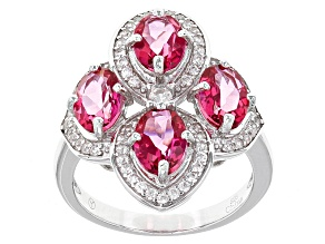 Pink Danburite Sterling Silver Ring 4.00ctw