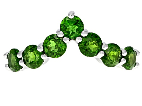 Green Chrome Diopside Sterling Silver Ring 2.02ctw
