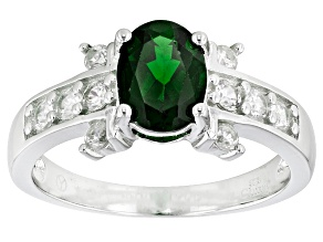 Green Chrome Diopside Sterling Silver Ring 1.83ctw
