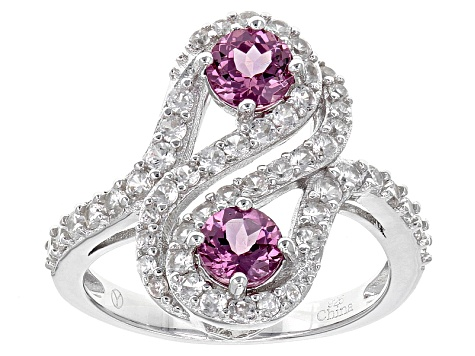 Purple Rhodolite Sterling Silver Ring 2.35ctw