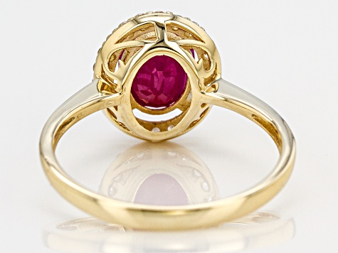 Red Ruby 10k Yellow Gold Ring 2.05ctw