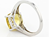 Yellow Golden Apatite Sterling Silver Ring 3.27ctw