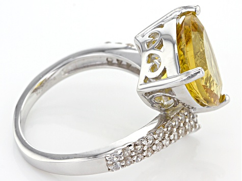 Golden Apatite Sterling Silver Ring 6.50ctw