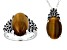 Brown Tiger's Eye Sterling Silver Jewelry Set