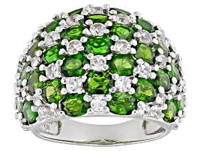 Green Chrome Diopside Sterling Silver Ring 7.60ctw