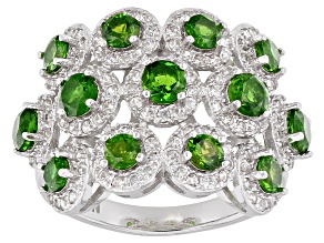 Green Chrome Diopside Sterling Silver Ring 3.19ctw