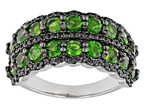 Green Chrome Diopside Sterling Silver Ring 2.92ctw