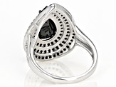 Black Spinel Sterling Silver Ring 4.00ctw